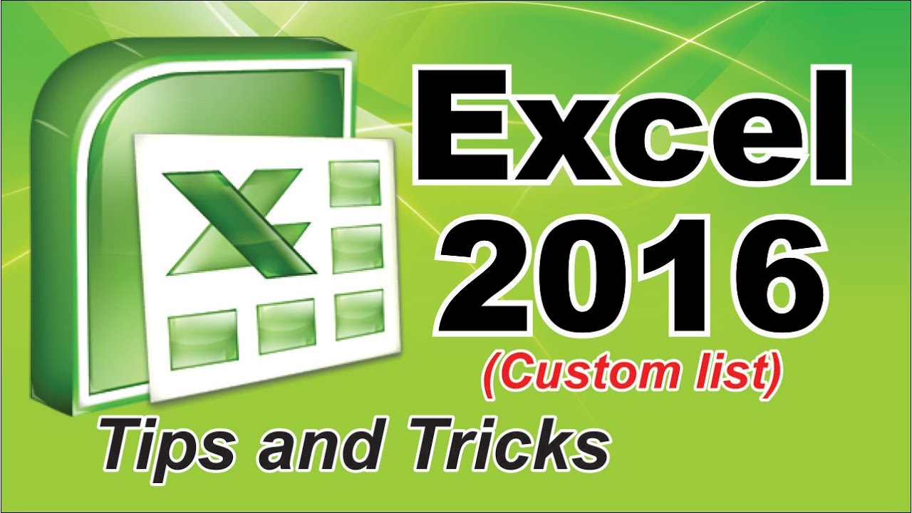 how to create a list in excel 2016