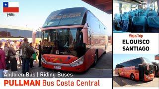 Viaje PULLMAN BUS en ruta EL QUISCO - SANTIAGO, unidad Zhongtong Navigator | Ando en Bus