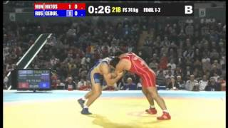Euro'13 74kg Final Aniuar Geduev vs. Gabor Hatos