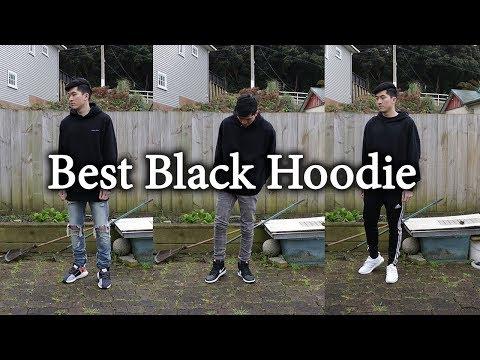 Best Black Hoodie   Men's Lookbook   FT. Champion, I Love Ugly & MNML LA
