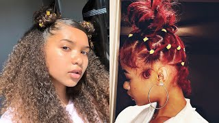 📚 CUTE AND TRENDY Natural BACK TO SCHOOL Hair Compilation - 2019 Hairstyles 💙💙