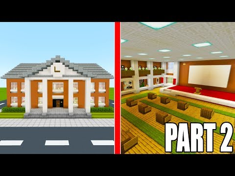 Minecraft Tutorial: How To Make A Town Hall Part 2