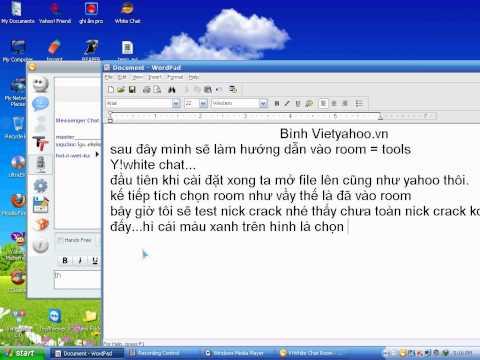 Hướng Dẫn Sữ Dụng File Yahoo ( Y!white Chat ) Chat Room