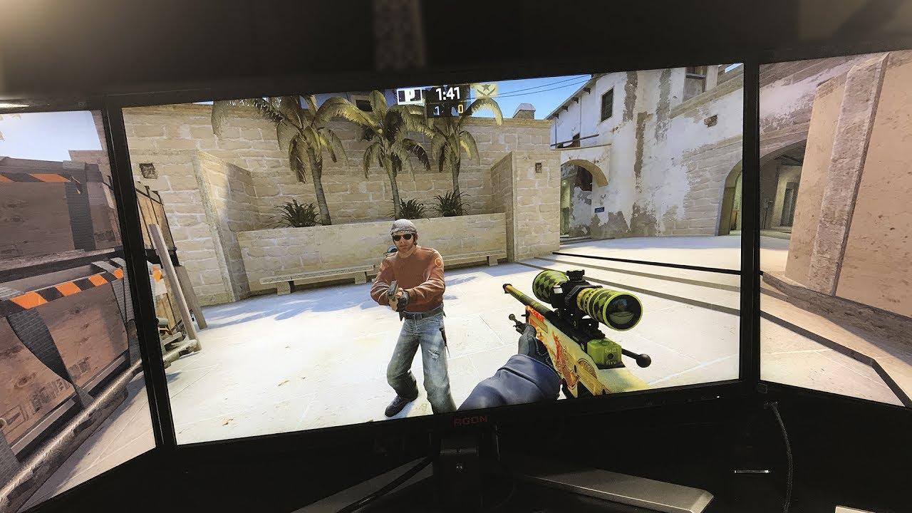 CS:GO НА 3 МОНИТОРАХ! Как играть на 3 мониторах в кс го ...