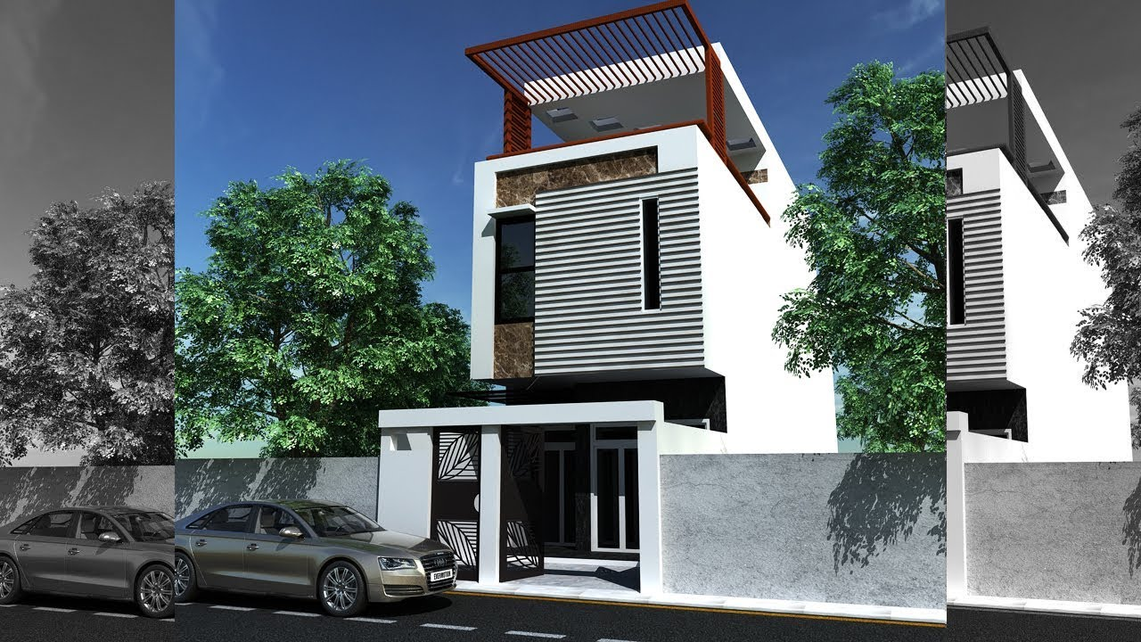 Vray Exterior 3ds Max Exterior Rendering Tutorial Youtube