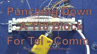 110 Block Punching Down 25 pair Cable