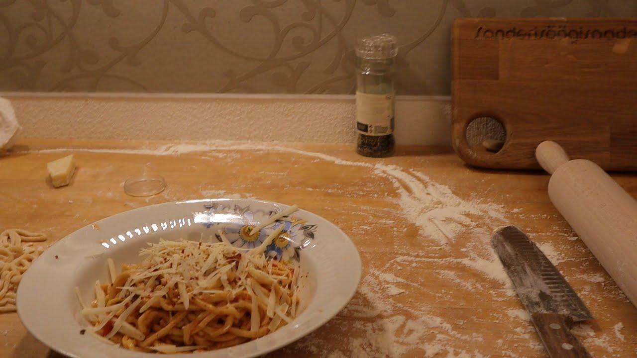 Sanderisöögisaade - Pasta valmistamine (ilma masinata)