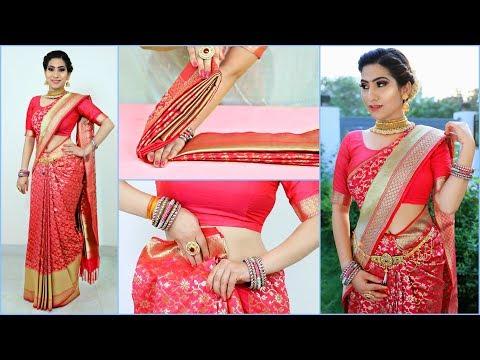 How to Wear SILK SAREE Perfectly - Hacks & Tricks   #Teenagers #Wedding #Fashion #Anaysa