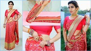 How to Wear SILK SAREE Perfectly - Hacks & Tricks | #Teenagers #Wedding #Fashion #Anaysa