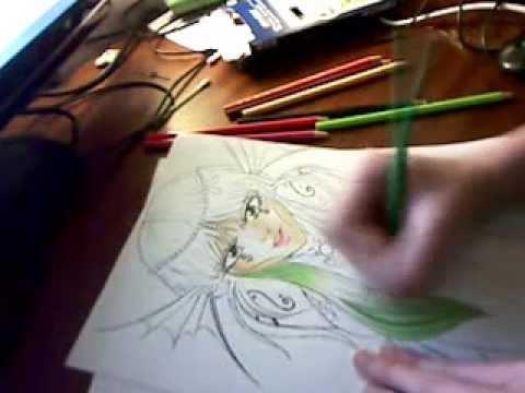 Tuto Coloration Aux Crayons De Couleur Youtube