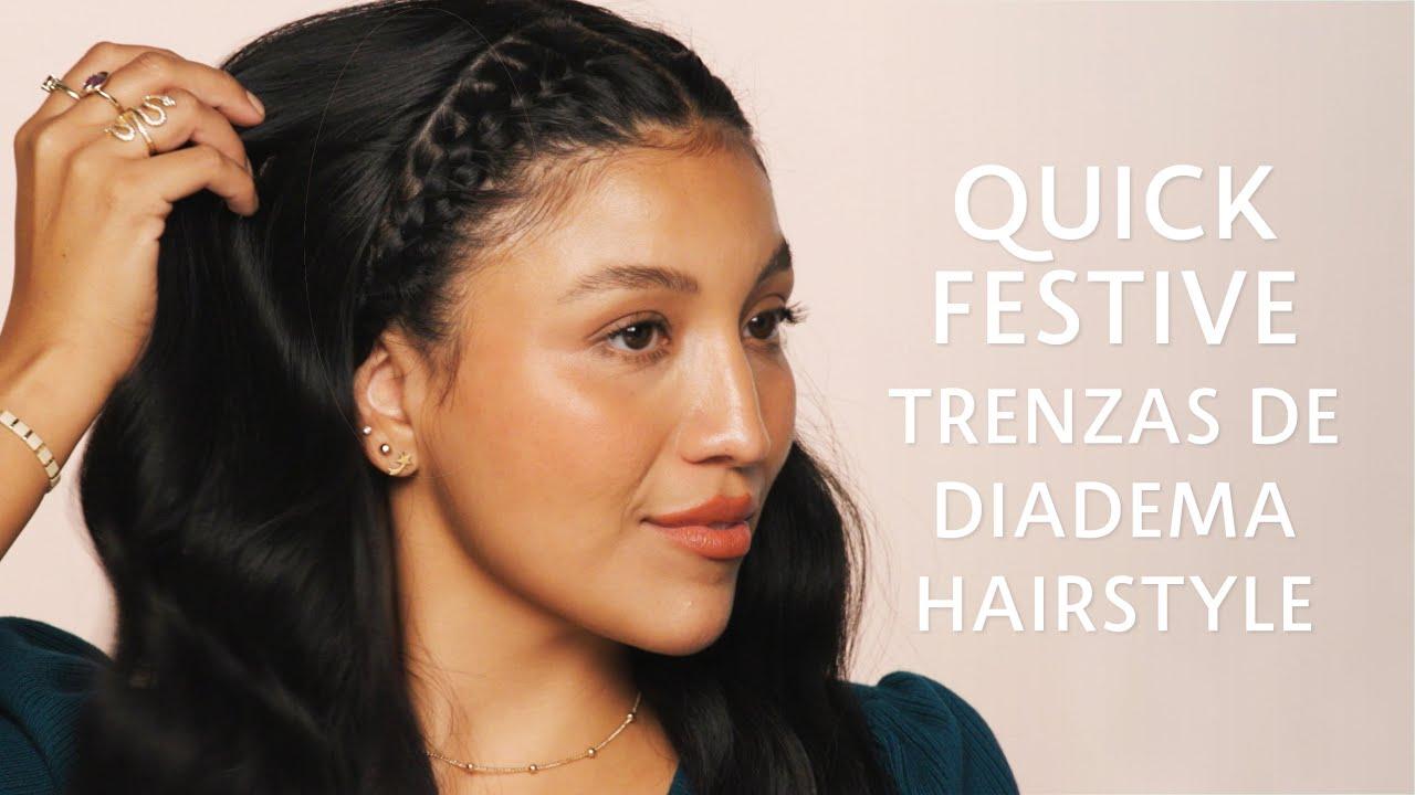 Sephora Gente: Quick Festive Trenzas de Diadema Hairstyle   Sephora