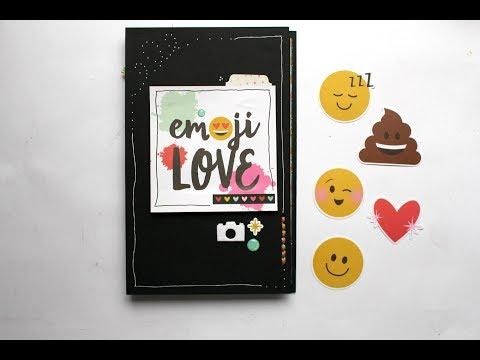 Tutorial Mini Album Emoji Love* Scraptools