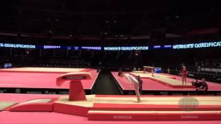TAN Jiaxin (CHN) - 2015 Artistic Worlds - Qualifications Vault 1