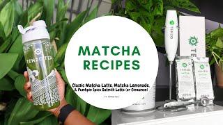 Favorite Matcha Drink Recipes Ft. Tenzo Tea Matcha Lemonade Pumpkin Spice Latte \u0026 More