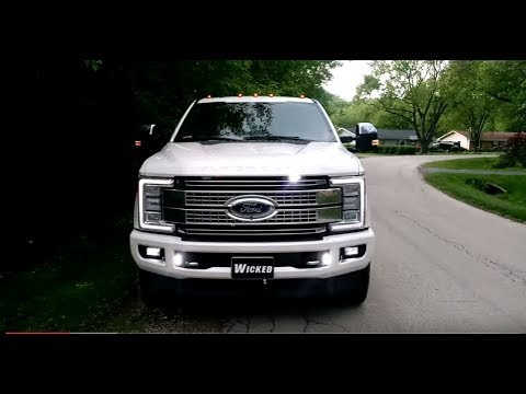 2017 F 350 PLATINUM Led Strobe Lights O Hare Towing Wicked Warnings