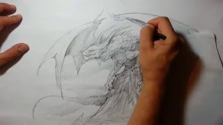 Speed Drawing - Dragon