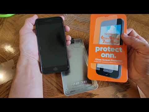 HOW TO INSTALL THE ONN GLASS SCREEN PROTECTOR