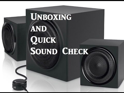 Blackweb Gunner PC Speakers Quick Unboxing and Sound Test