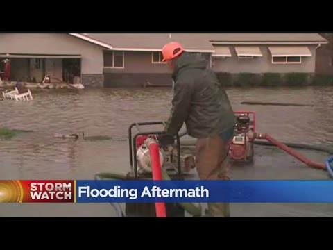 Yuba County Homeowners Forced To Travel By Boat In Floodwaters