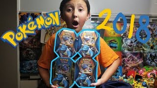 NEWEST 2018 POKEMON PRODUCT!! OPENING THE FIRST BLASTOISE EX TIN!! ETHANS FAVORITE POKEMON!!