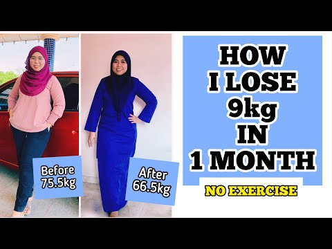 How To Lose Weight without Exercise | I lost 9kg in one month