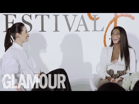 Winnie Harlow  & Erin O'Connor Talk Beauty and Beyoncé | Beauty Talk | Glamour UK