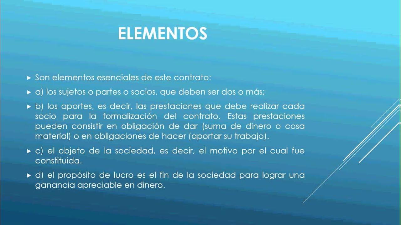 Elementos del contrato de sociedad nercantil youtube for Elementos de un vivero