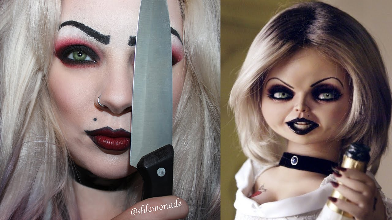 halloween: bride of chucky / tiffany makeup tutorial | shlemonade