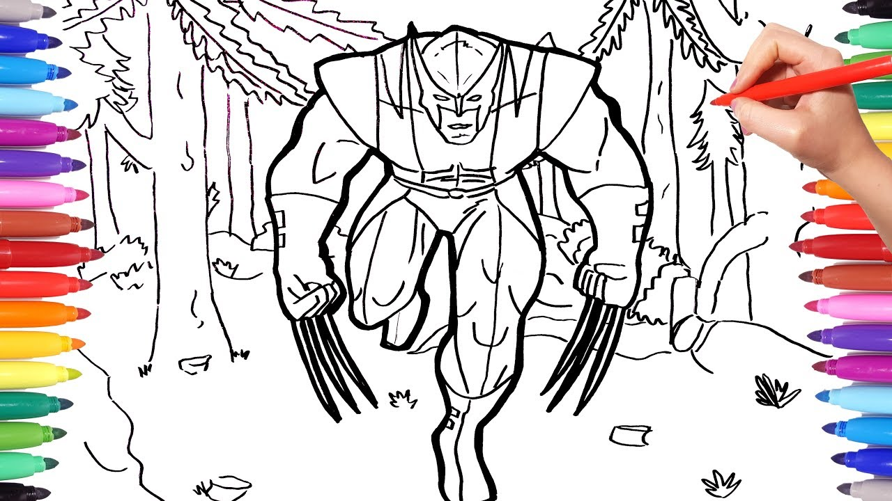 X Men Wolverine Coloring Pages For Kids