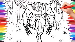 X-Men Wolverine Coloring Pages for Kids | Marvel Superheroes Coloring Book | How to Draw Wolverine