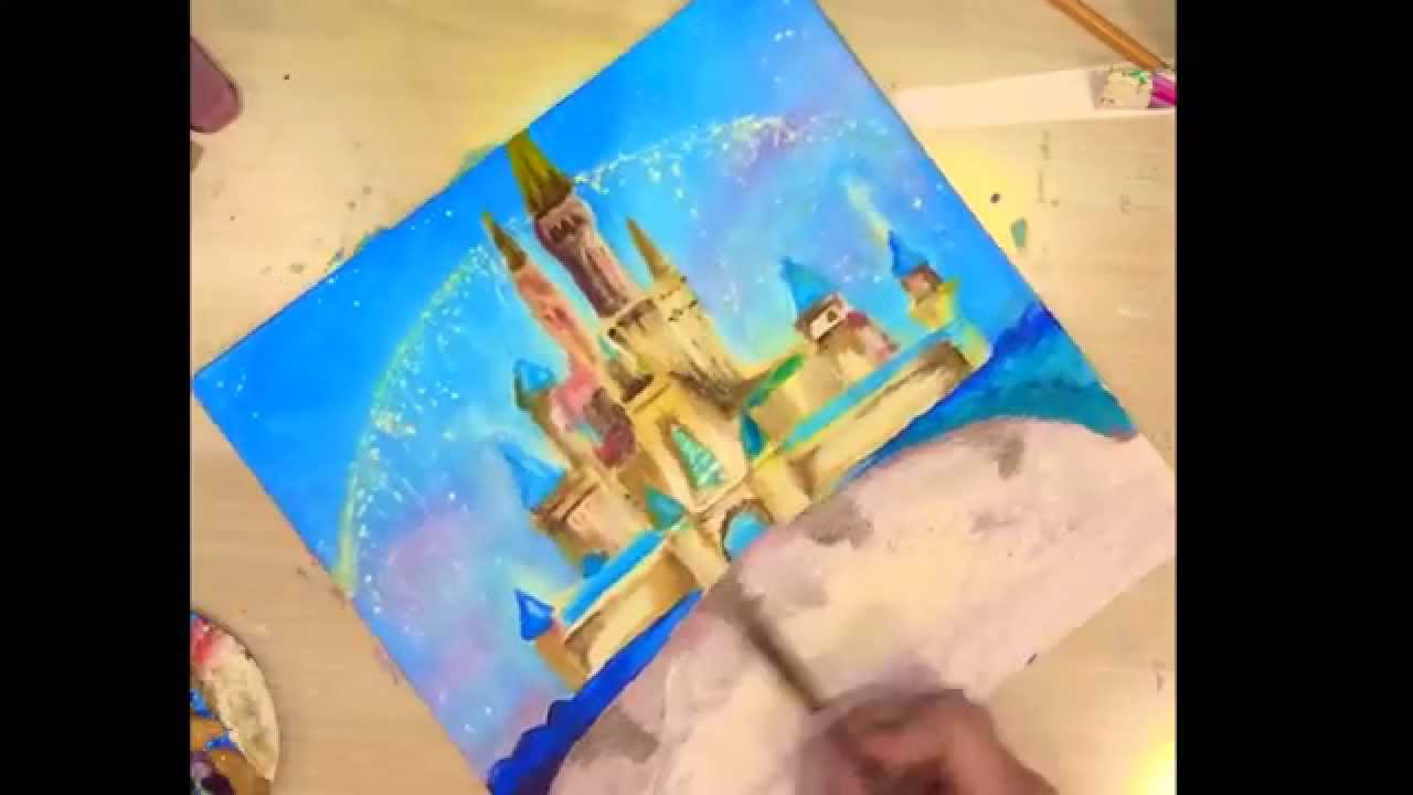 Disney Castle Painting For My Birthday