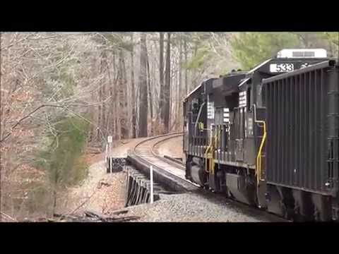NS P07 Switching On The Old State University Railroad in Carrboro NC 12/30/2013