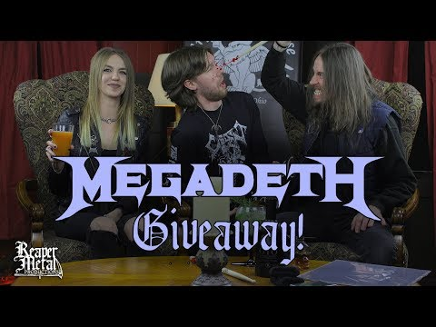 Megadeth Giveaway!! Drummer Dirk Verbeuren Prize Pack
