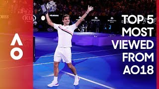 The most viewed moments from AO18 | Australian Open 2018