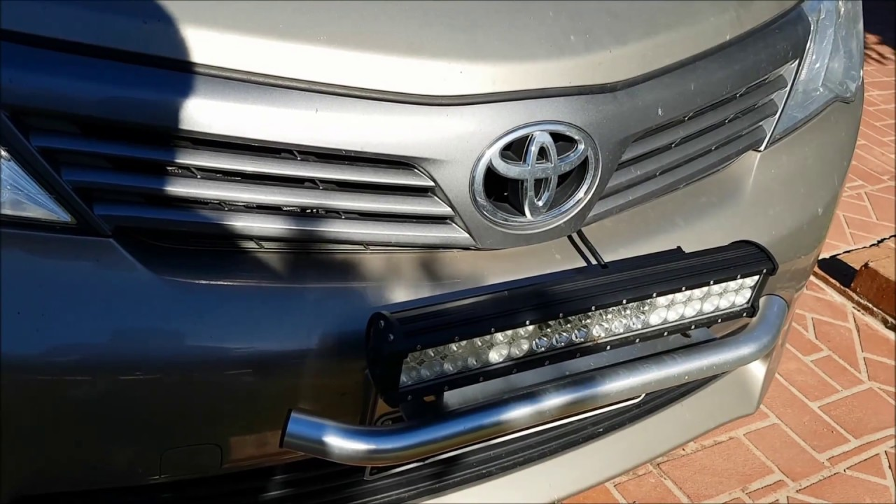 """20/""""IN 126W LED Light Bar Combo+23/'/' Bull Bar Bumper License Plate Mount Bracket"""