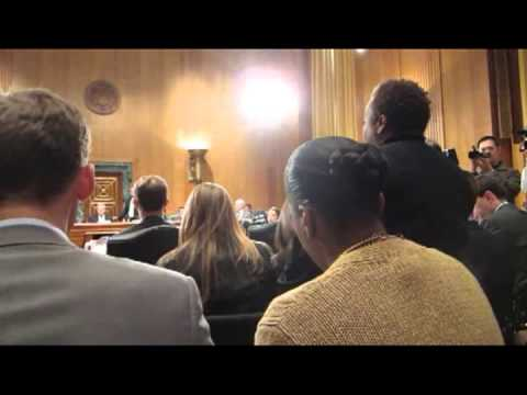 Protestor Interrupts Acting U.S. Trade Rep