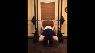Bench 1 x 250 lbs 1RM