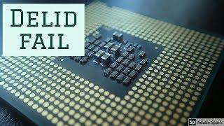 Jak (ne)dělat delid procesoru