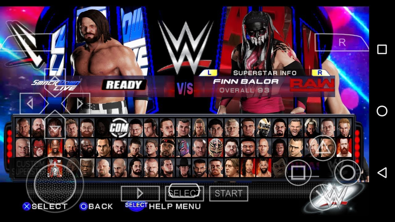 [205MB] wwe 2k18 psp folder for android proof with gameplay| In Hindi| by  Techno S Gamer