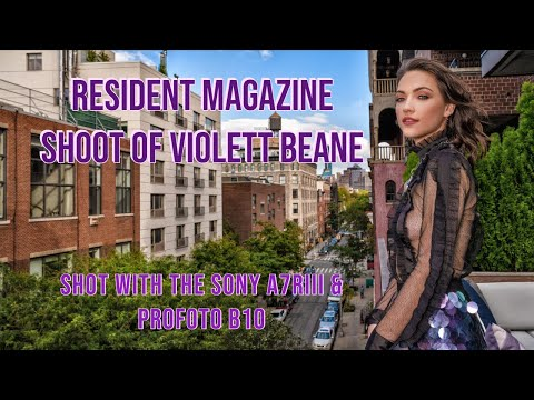Magazine Shoot in NYC of the actress Violett Beane (Sony a7RIII + Profoto B10)