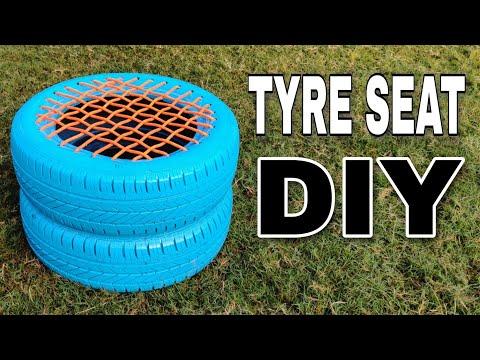 DIY Making of Tyre Seat at Home