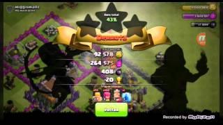 Clash of Clans:upando o rei barbaro e farm loko