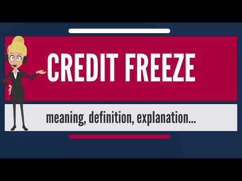 What is CREDIT FREEZE? What does CREDIT FREEZE mean? CREDIT FREEZE meaning, definition & explanation