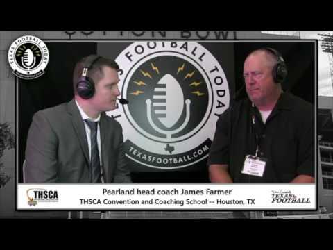 Texas Football Today at THSCA: Pearland head coach James Farmer
