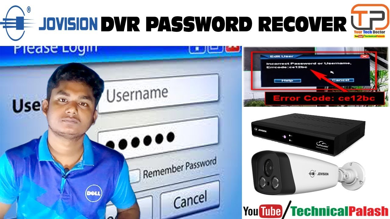 jovision dvr password reset | 100% Free | Technical Palash