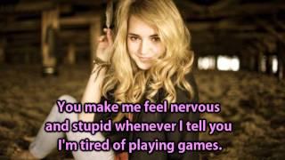 katelyn tarver   love alone   lyrics