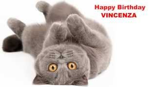 Vincenza2  Cats Gatos - Happy Birthday