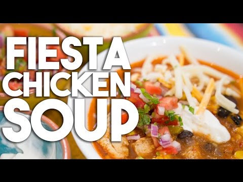 FIESTA CHICKEN Soup – MEXICAN Flavours In One Hearty Bowl Of Soup