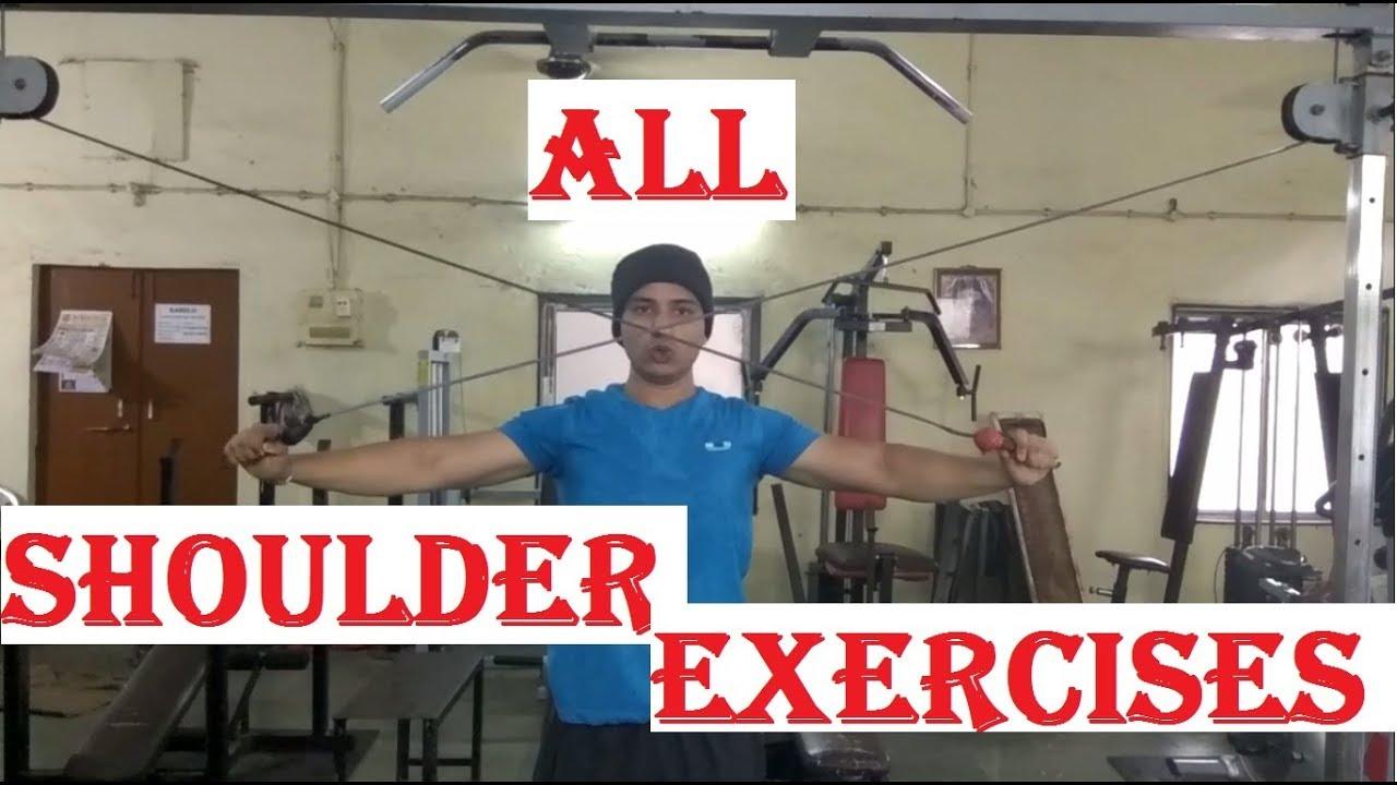 All Shoulder Exercises   Gym Deltoid Exercises   Shoulder Workout In Gym