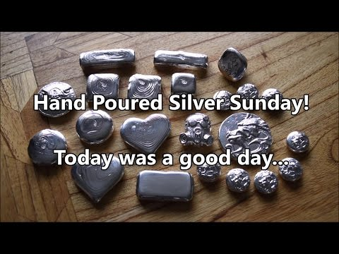 A busy weekend pouring LOTS of silver!